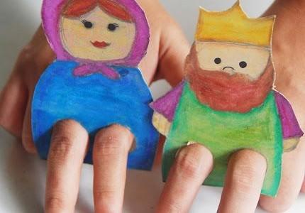 Marionetas de cartón para dedos