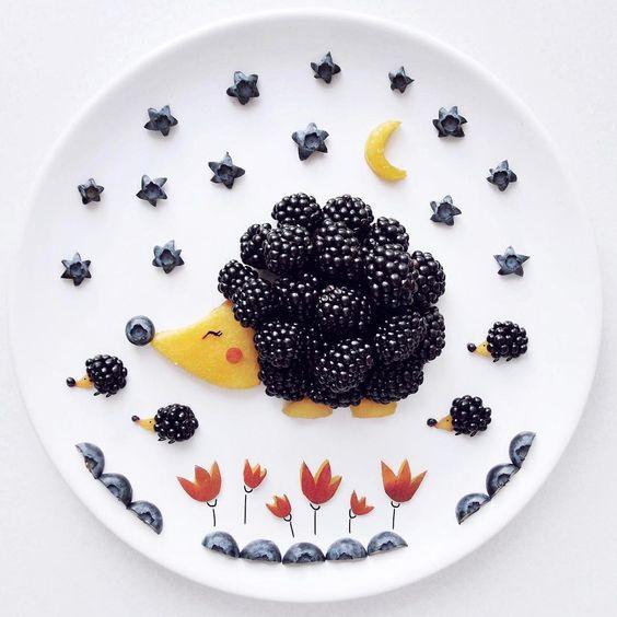 Fruta decorada para niños